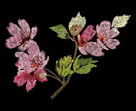 Ilustración de Colorful embroidery vector - Imagen libre de derechos