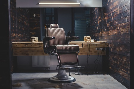 Photo for Stylish Vintage Barber Chair - Royalty Free Image
