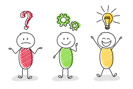Ilustración de Funny concept of businessmen vector icon. - Imagen libre de derechos
