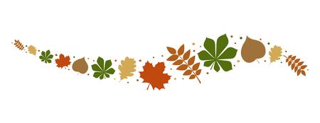 Ilustración de Autumnal leaves - concept of banner. Vector. - Imagen libre de derechos