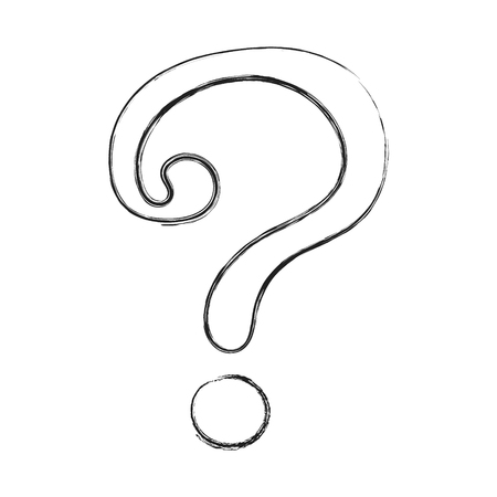 Illustration pour Hand drawn question mark - icon. Vector. - image libre de droit