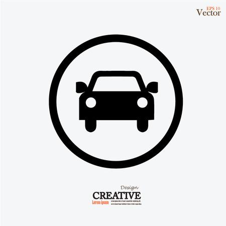 Ilustración de Car .car icon. Vector illustration. - Imagen libre de derechos
