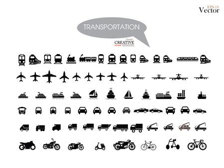 Photo pour Transport icons.transportation .logistics.logistic icon.vector illustration. - image libre de droit