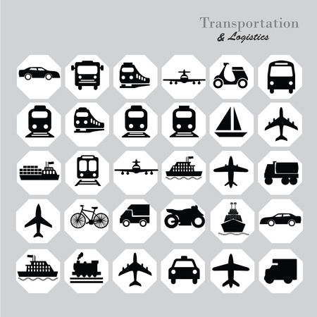 Foto per Transport icons.transportation .logistics.logistic icon.vector illustration. - Immagine Royalty Free