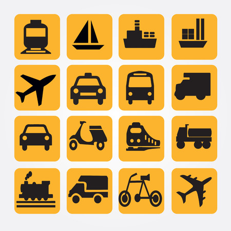 Photo for Transport icons.transportation .logistics.logistic icon.vector illustration. - Royalty Free Image