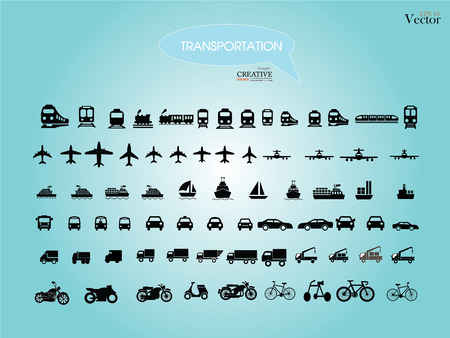 Foto de Transport icons.transportation .logistics.logistic icon.vector illustration. - Imagen libre de derechos