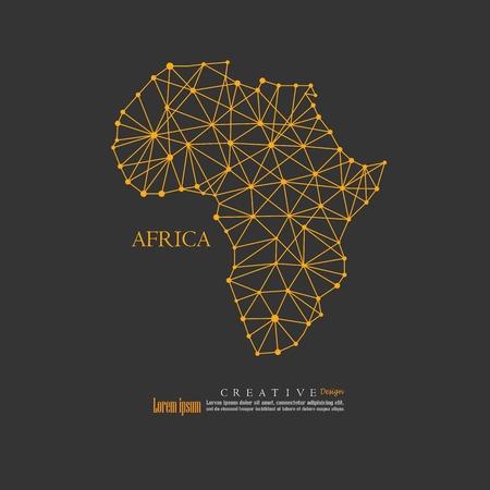 Illustration pour outline map of Africa. vector illustration. - image libre de droit
