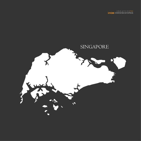 Illustration for Outline map of Singapore vector illustration. - Royalty Free Image