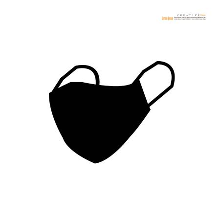 Illustration pour Breathing mask.dust crisis concept.flat vector icon for apps and websites.Vector illustration. - image libre de droit