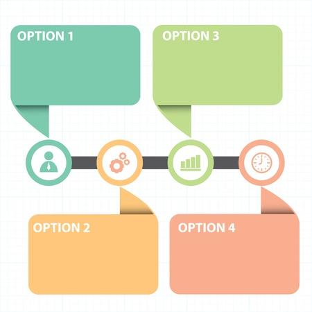Illustration pour Vector illustration of text box  with line business strategy diagram - image libre de droit
