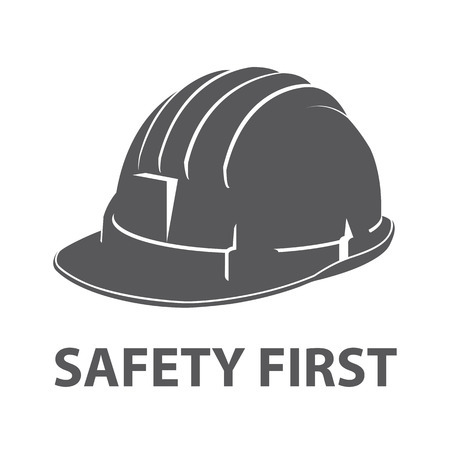 Photo pour Safety hard hat icon symbol isolated on white background. Vector illustration - image libre de droit