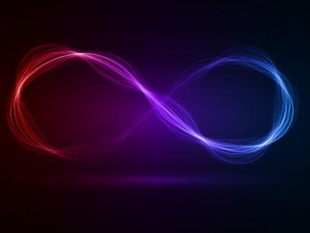 Foto de energy waves loop (red,violet and blue colored,wide  waves version) - Imagen libre de derechos