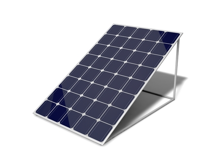 Photo pour 3d solar panel. solated on white. - image libre de droit