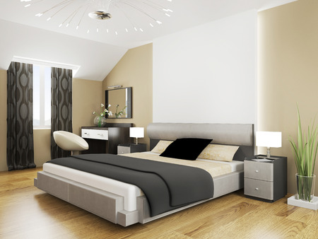 Photo for Bedroom in contemporary style 3d rendering - Royalty Free Image