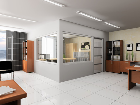 Photo for Office interior in modern style 3d rendering - Royalty Free Image