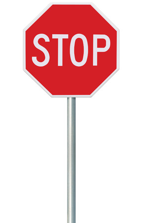 Photo for Red Stop Sign - Royalty Free Image