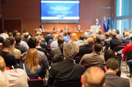 Foto de Business Conference and Presentation with Audience at the conference hall. - Imagen libre de derechos