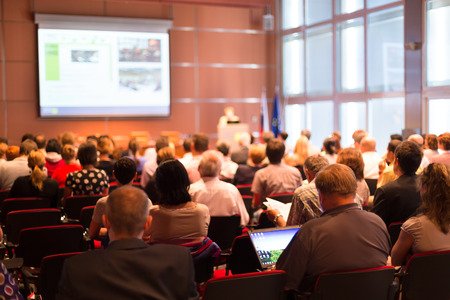 Foto de Business Conference and Presentation with Audience at the conference hall  - Imagen libre de derechos
