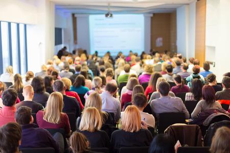 Foto de Business Conference and Presentation. Audience at the conference hall. Business and Entrepreneurship. - Imagen libre de derechos