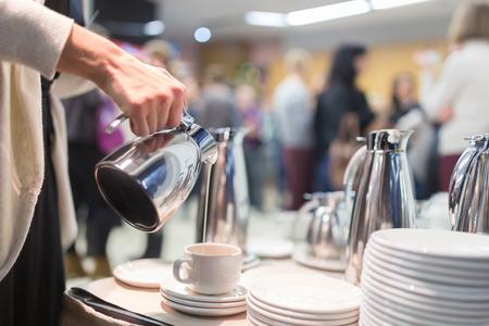 Foto de Coffee break at conference meeting.  Business and entrepreneurship. - Imagen libre de derechos