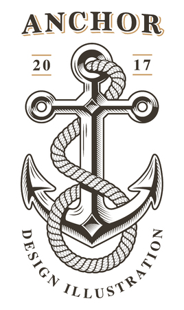 Ilustración de Anchor vector illustrartion. - Imagen libre de derechos