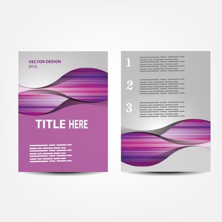 Ilustración de vector business brochure, Flyer template - Imagen libre de derechos