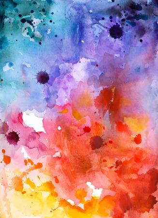 Ilustración de Abstract hand drawn watercolor background,vector illustration. Watercolor composition for scrapbook elements. Watercolor shapes on white background - Imagen libre de derechos