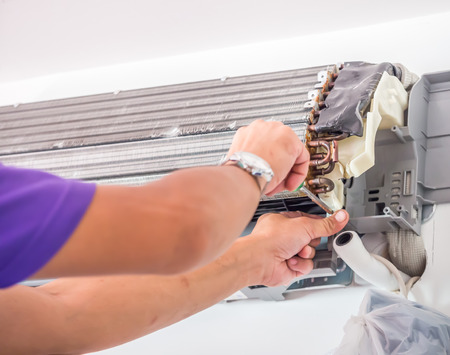 Photo for Air conditioner cleaning process and service - Royalty Free Image
