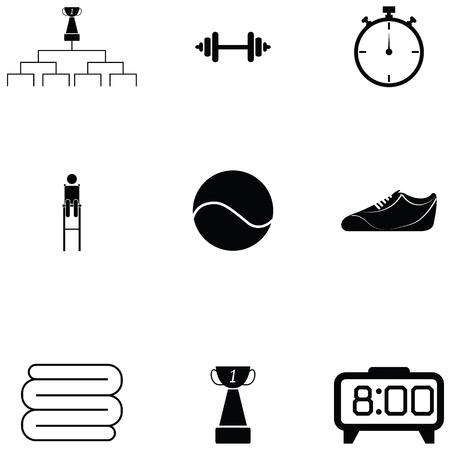 Ilustración de tennis icon set Vector illustration. - Imagen libre de derechos