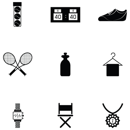 Ilustración de Tennis icon set - Imagen libre de derechos