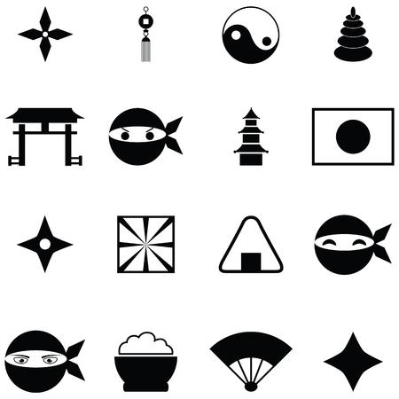 Ilustración de ninja icon set - Imagen libre de derechos