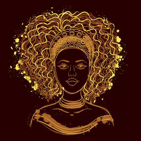 Ilustración de Portrait of African woman. - Imagen libre de derechos