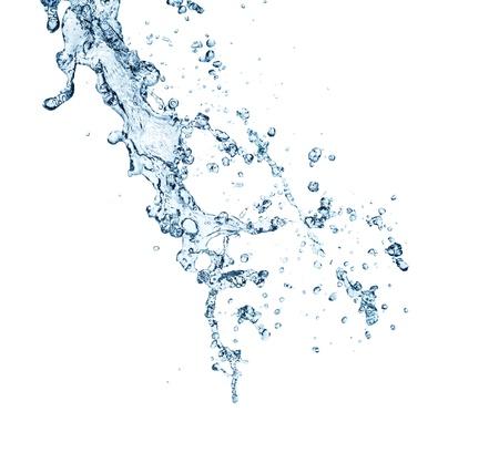 Foto de The splash splashing in the white background - Imagen libre de derechos