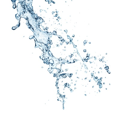 Photo for The splash splashing in the white background - Royalty Free Image