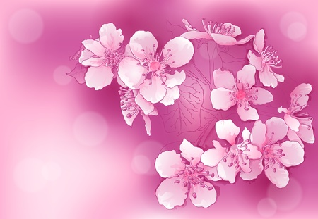 abstract background with pink blossoms