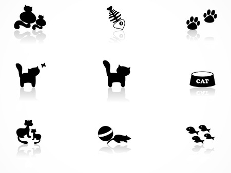 Cat icons set
