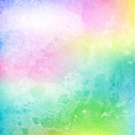 Illustration pour Colorful cloud and sky on grainy paper. Watercolor. Vector illustration - image libre de droit
