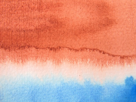 Burnt Sienna and blue Watercolor 1