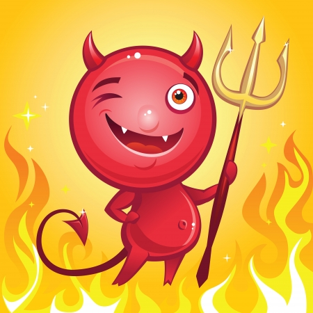 funny devil cartoon character