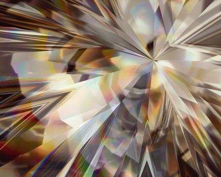 Photo pour 3d abstract golden crystal background, faceted glass - image libre de droit