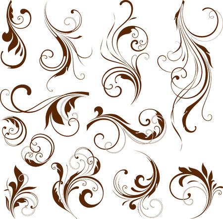 Illustration pour Vector set of ornate calligraphic vintage elements and page decorations. - image libre de droit