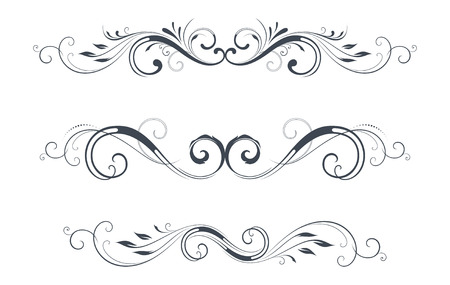 Illustration for Vector swirl ornate motifs. - Royalty Free Image