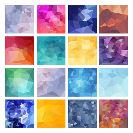 Illustration for Set of Abstract Geometric backgrounds. Polygonal vector design - Royalty Free Image