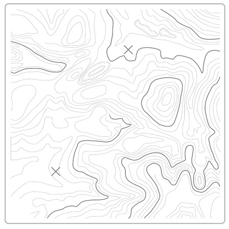 Illustration pour Topographic map of relief and land heights - image libre de droit