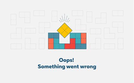 Illustrazione per Error page design concept vector illustration. - Immagini Royalty Free