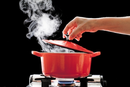 A boiling pot