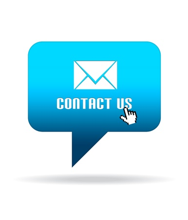 High resolution Contact Us Speech Bubble graphic.
