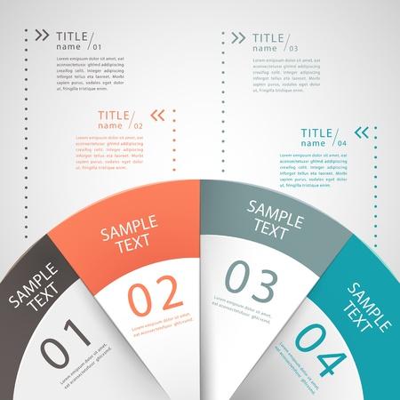 Ilustración de vector abstract 3d paper infographics. can be used for workflow layout, diagram, number options, web design.  - Imagen libre de derechos