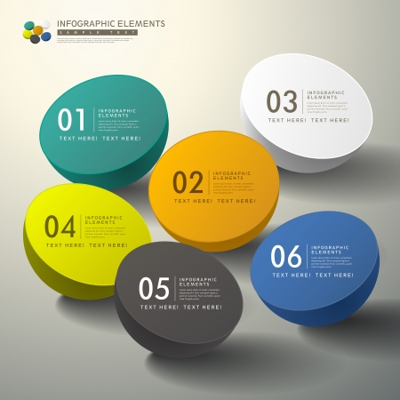 Illustration for vector abstract 3d infographic elements - Royalty Free Image