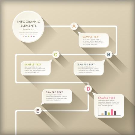 Photo pour vector abstract flat design flow chart infographic elements - image libre de droit